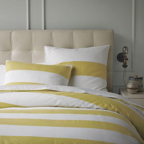 Yellow And White Stripe Duvet