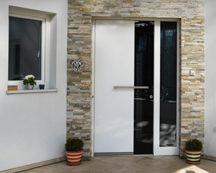 Fiberglass house front doors