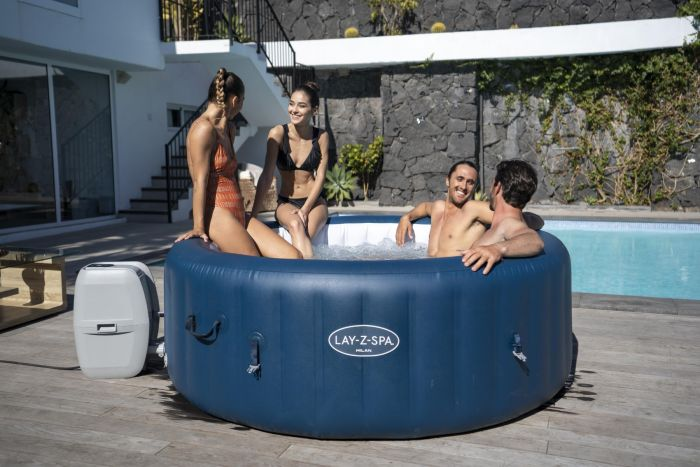 Inflatable Jacuzzis are budget-friendly